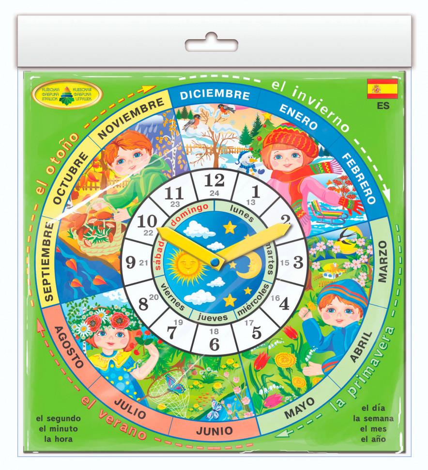 """Дитяча розвиваюча гра """"Годинник"""" Spain 82821 на іспанській мові"""