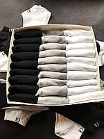 Набір укорочених чоловічих шкарпеток, бавовняні Calvin Klein репліка (30 пар) у фірмовій коробочці!, фото 4