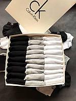 Набір укорочених чоловічих шкарпеток, бавовняні Calvin Klein репліка (30 пар) у фірмовій коробочці!, фото 2