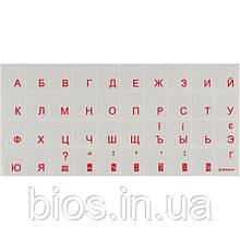 Наклейка на клавiатуру прозора