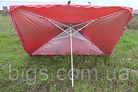 Зонт пляжный Торговый с ветровым клапаном и серебряным напылением 3х3