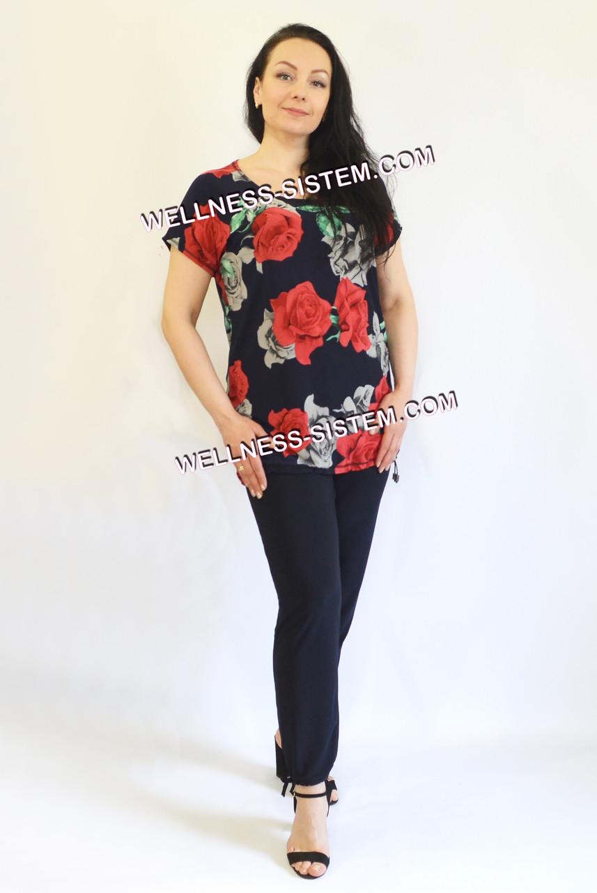 Костюм Карамель  (50-64) червоні рози