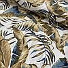 Тканина декоративна з золотим листям на білому з тефлоновим просоченням, ш. 180 см