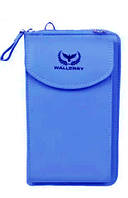 Гаманець жіночий Wallerry ZL8591, колір синій, гаманець з еко-шкіри, жіночі гаманці