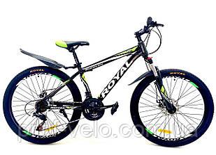 Велосипед Royal 27.5 DRIVE чорно-салатовий