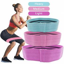 Набор тканевых резинок для фитнеса LUTING (Комплект из 3 штук)