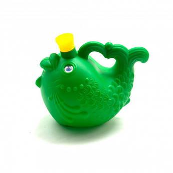 """Детская игровая лейка """"Рыбка"""" 08091 для полива растений (зелёная)"""