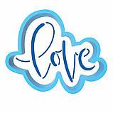 Надпись LOVE вырубка с трафаретом 6*7 см (TR-1), фото 2