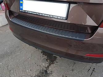 Защитная накладка на задний бампер Skoda A7 (2013-2017) LIFTBACK