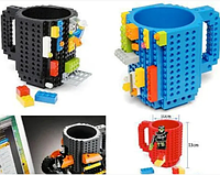 Качественная чашка-конструктор, чашка-лего на подарок для чая 350 мл