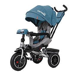 Велосипед трехколесный TILLY CAYMAN с пультом и усиленной рамой T-381/7 Бирюзовый лен / 1 /
