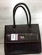Каркасная женская с накладным карманом Aliri-310-01 коричневая