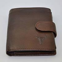 Винтажный мужской кожаный кошелек из натуральной кожи(В наличии коричневый)