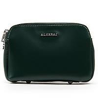 Жіноча сумка через плече зеленого кольору шкіра А. Rai класична сумочка з натуральної шкіри, фото 1