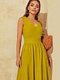 Розкльошене  плаття відрізне по талі ЛІТО, фото 3