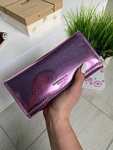 Жіночий гаманець на магнітах Shine рожевий ЖКШ17, фото 3