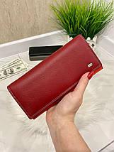 Жіночий шкіряний гаманець Dr. Bond Classic червоний КБК564, фото 3