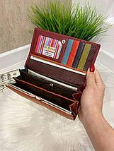 Женский кожаный кошелёк Dr. Bond Business с визитницей красный КБВ852, фото 3