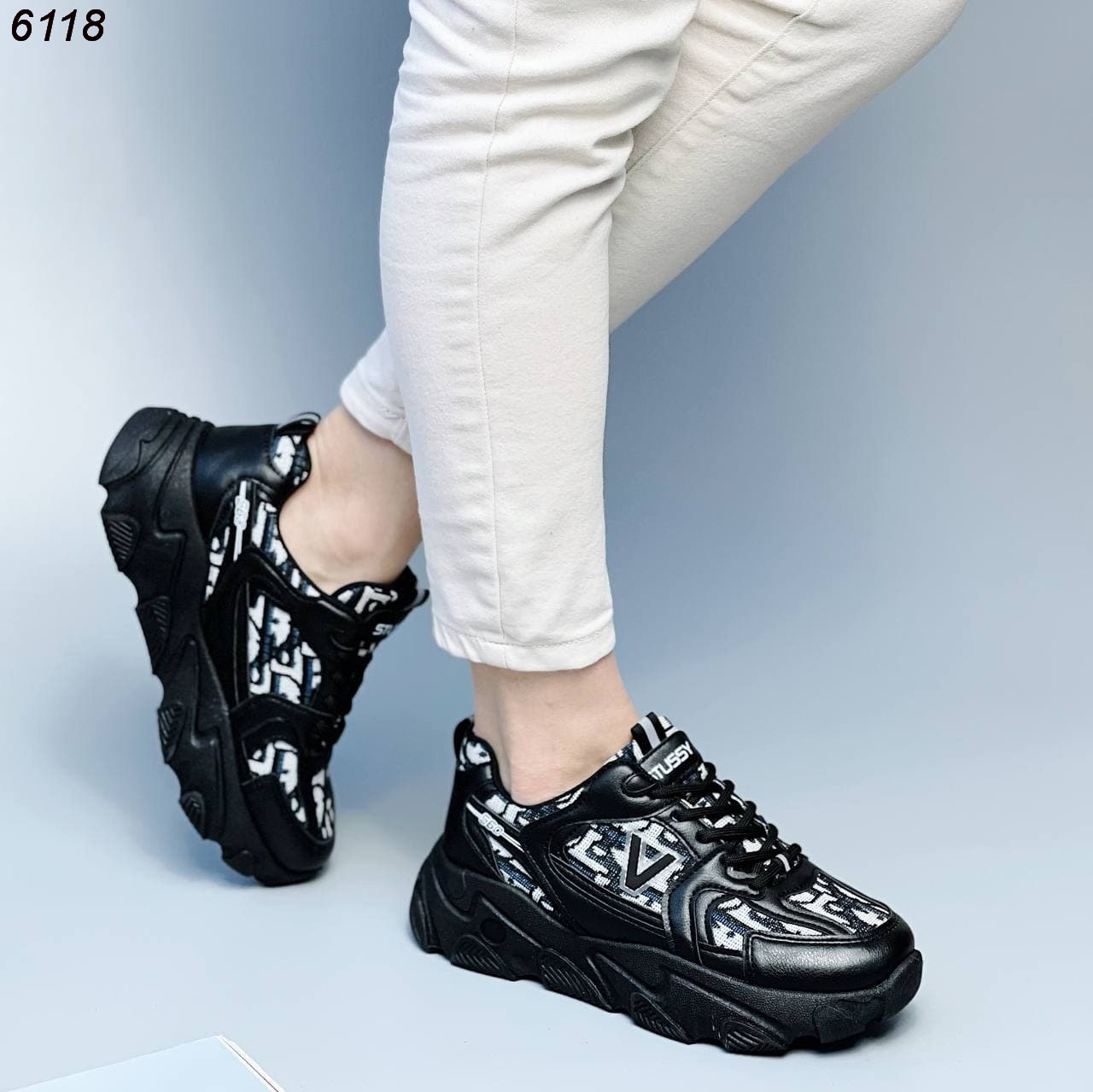 Крутые кроссовки для девушек 6118 (ВБ)