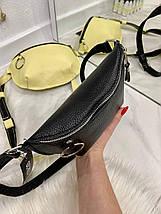 Жіноча шкіряна бананка Golden чорна БГ1, фото 3