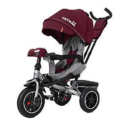 Велосипед трехколесный TILLY CAYMAN с пультом и усиленной рамой T-381/7 Красный лен / 1 /