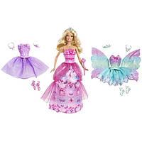 Кукла Barbie с тремя нарядами Принцесса, Балерина, Фея Бабочка