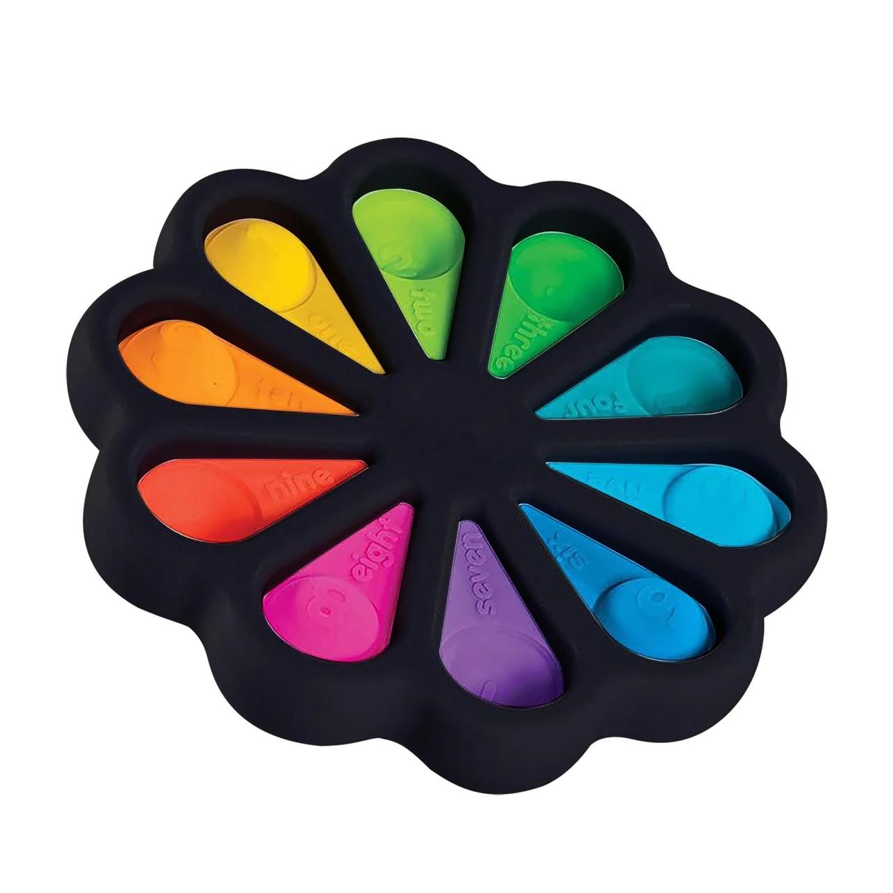 Сенсорна іграшка Simple Dimple поп іт антистрес сімпл дімпл pop it квітка чорний