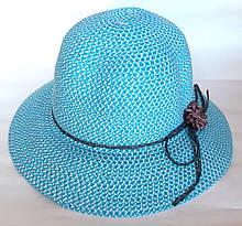 Шляпа пляжная Fashion (57 см) голубая