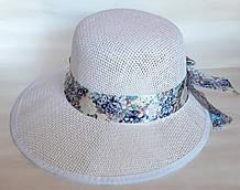 Шляпа-козырек пляжная Fashion (58 см) белая