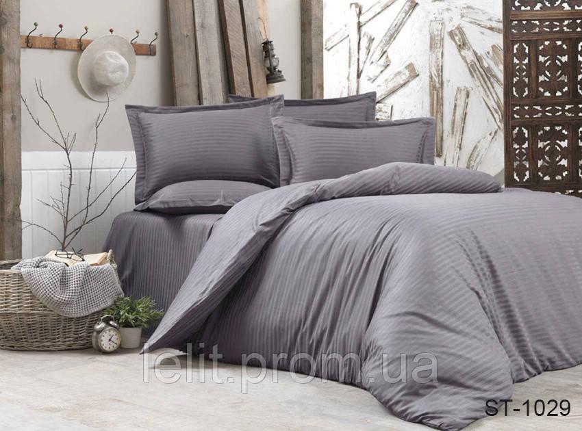 Евро-Макси комплект постельного белья Страйп-Сатин LUXURY ST-1029