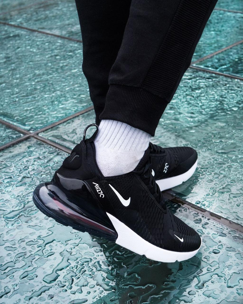 Кросівки чоловічі Nіke Air Max 270 в стилі найк аір макс чорні (Репліка ААА+)