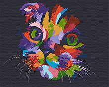 Картина за номерами тварини кіт 40х50 Хованки