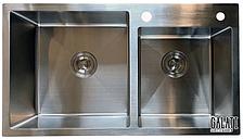 Кухонная мойка Galati Arta U-750 из нержавейки с двумя чашами (под столешницу)