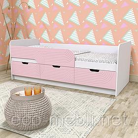 Дитяче/підліткове ліжко аляска/рожевий,аляска/блакитний 80*190 Binry KEC 10A
