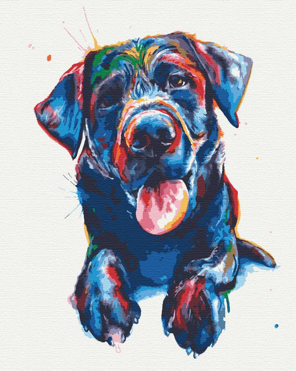 Картины по номерам животные пес 40х50 Оливер