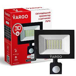 """30W 6500K """"Vargo"""" светодиодный прожектор с датчиком движения"""