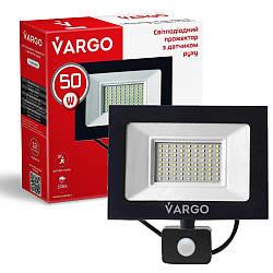 """50W 6500K """"Vargo"""" светодиодный прожектор с датчиком движения"""