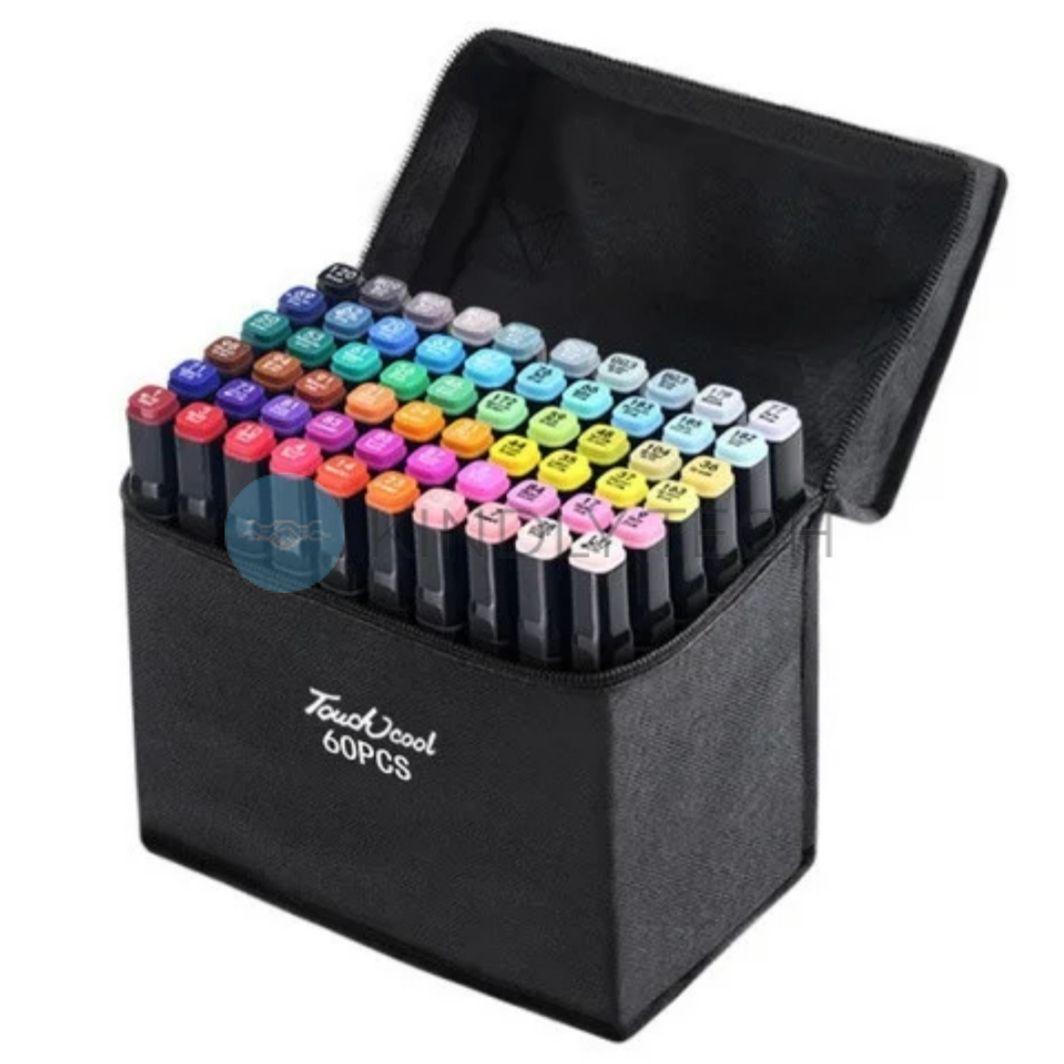 Набор скетч-маркеров 60 шт. для рисования двусторонних Touch TOUCH-60