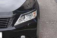 Реснички на фары Toyota Camry в 50 кузове 2011-2014 г.в.