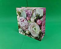 Пакет бумажный подарочный квадратный ы 23*24*10(артKV-007) (12 шт), фото 1