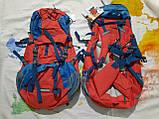 Рюкзак туристичний трекинговый Crivit 70л спортивний з дощовиком червоний, фото 7