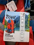 Рюкзак туристичний трекинговый Crivit 70л спортивний з дощовиком червоний, фото 9