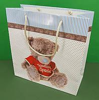 Бумажные пакеты квадратной формы 23*24*10(артKV-010) (12 шт), фото 1