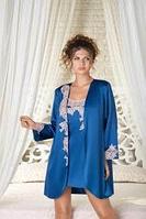 Халат женский синего цвета Galshka, фото 1