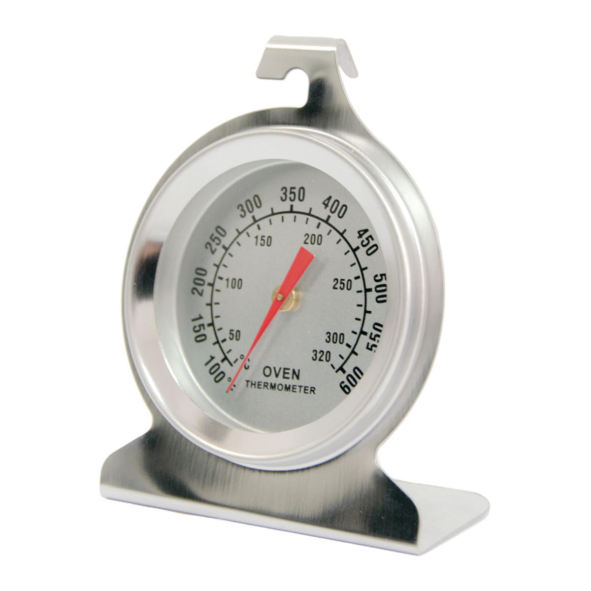 Градусник для духової шафи сріблястий, внутрішній термометр для електричної, газової духовки, печі