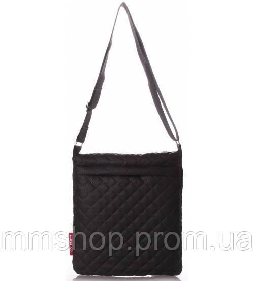 Сумка-планшет женская стёганая POOLPARTY Eco чёрная