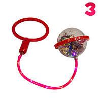 Ice Hoop светящаяся скакалка (Красное кольцо и Красный круг №3), нейроскакалка на одну ногу с шаром (TI)