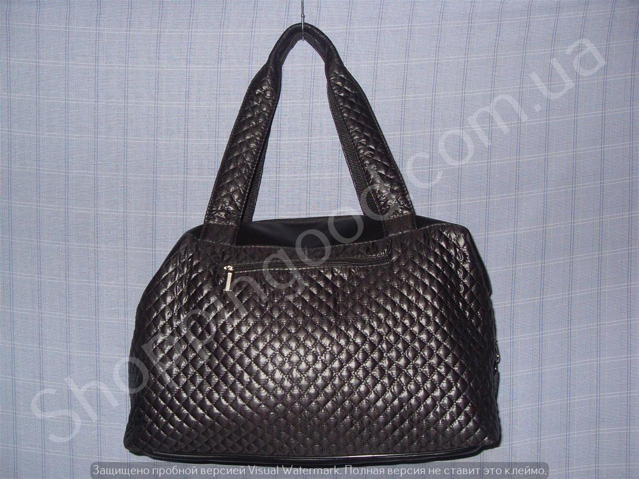 5a513be8 Женская сумка 013630 черная стеганная ткань и кожзам недорого. Цена ...