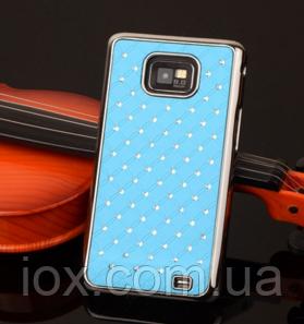 Чехол голубой c камнями на Samsung GalaxyS2 (i9100) - iOX в Киеве