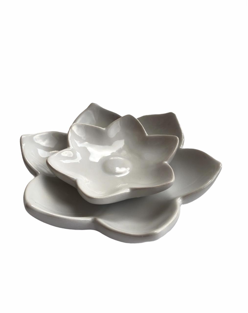 Керамический подсвечник в виде цветка EDEKA
